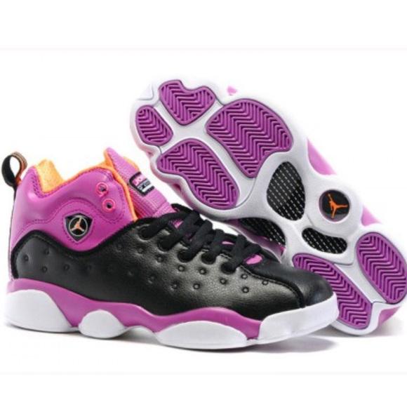 finest selection dcec9 f96c9 Jordan Shoes - WOMENS NIKE AIR JORDAN 13 PURPLE BLACK WHITE